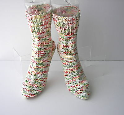 SUNSHINE Hand Knit UNIQUE Adult SOFT Wool Cotton Extra Thick Socks / Unique Gift