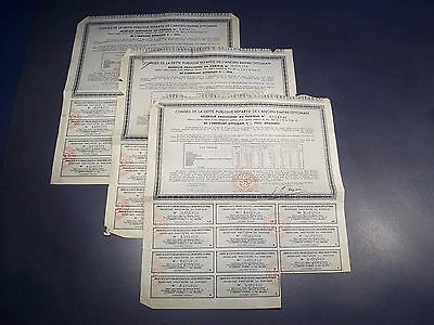 3 x EMPIRE OTTOMAN 2 different years: 1902 & 1914 - bond / share / action