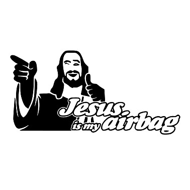 """Stickers """"Jesus is my airbag"""""""