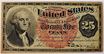 1863 25 Cent George Washington Fractional Currency - 4th Issue