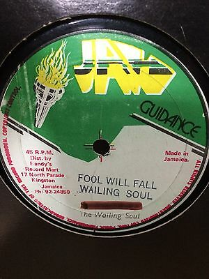 "Wailing Souls ""fools Will Fall"" On The Jah Guidance Label 12"" Hear."