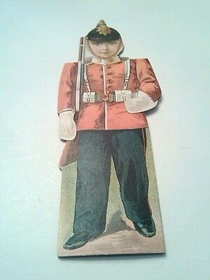 Vintage Clark's Spool Cotton Thread Advertising Die Cut Soldier English