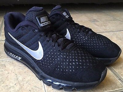 Men's Nike Air Max 2017 Running Shoes Black/White/Anthracite 849559-001 Size 10