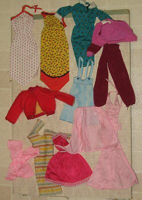 Vintage Barbie Doll Clothes Lot 6 As Is