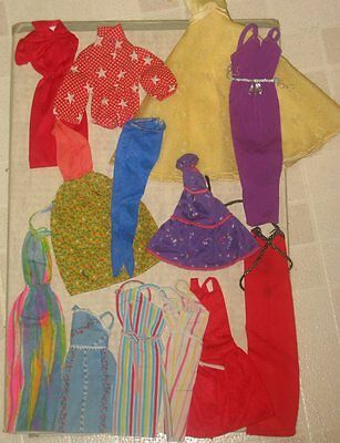 Vintage Barbie Doll Clothes Lot 2 As Is