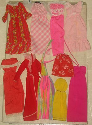 Vintage Barbie Doll Clothes Lot 3 As Is