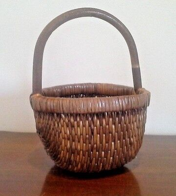 ANTIQUE / Vintage WOVEN CHINESE RICE BASKET