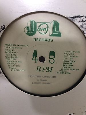 "Leroy Smart  ""jah The Creator ""  On The J & L  Label 12"" Hear."