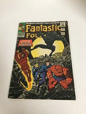 Fantastic Four 52 Vg+ 4.5 Qualified First Appearance Of Black Panther