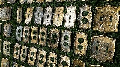 Lot of 49 Vtg.Solid Brass Amerock Carriage House Outlet&Light Switch Cover Plate