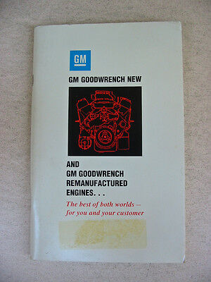 1992 GM Goodwrench New & Remanufactured Engine Catalogue