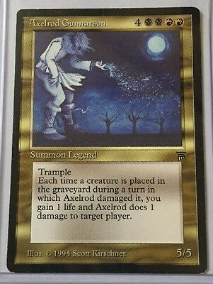 Magic the Gathering MTG Axelrod Gunnarson Legends Rare Nr Mint
