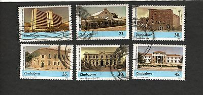 1986 Zimbabwe SC #606-611 SUPREME COURT STANDARD BANK CHARTER HOUSE used stamps