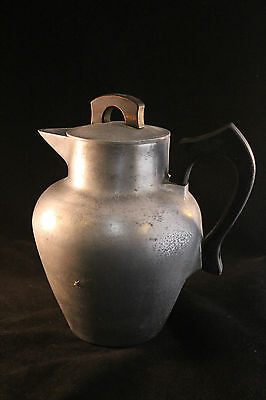 Vintage Aluminum Coffee Pot Wood Handle and Finial