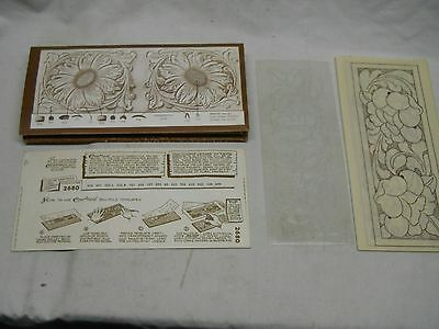 F. O. Baird Leather Monograms & Billfold Designs Leather Patterns & Instructions