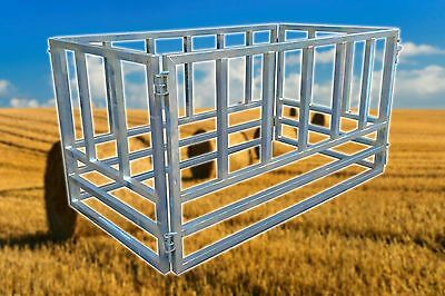 Large Bale Hay Feeder. Square, 2 x Round, Cattle, Horse, Heavy Duty, 4 Piece.