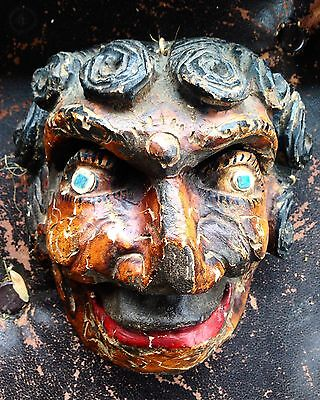 Old antique Carved Wood Mexican Dance Mask