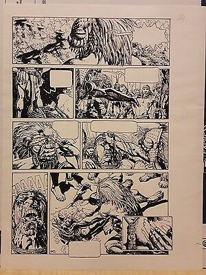 Tarzan. Igor Kordey. Comic Original Art.
