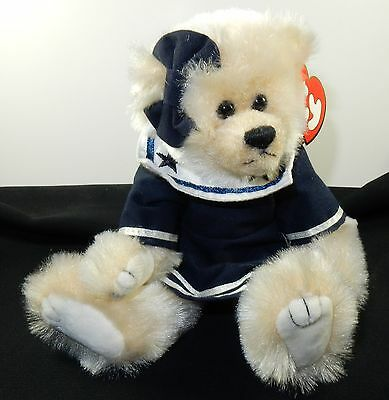 Ty RETIRED Attic Treasure BREEZY Navy Bear Mint with Tag Smoke and Pet Free Home