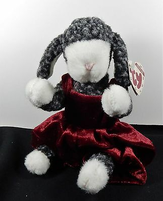 Ty RETIRED Attic Treasure LILLY Black Lamb  Mint w/ Tag Smoke and Pet Free Home