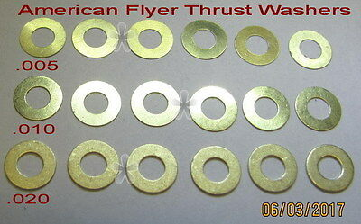 American Flyer Replacement Thrust Washer Set(PA10766) (18)(NEW)