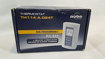 Aube Tech Thermostat TH114-AF-024T non-programmable NEW OPEN BOX