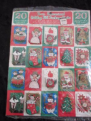 vintage 3d christmas gift tags MADE IN JAPAN  THE COMMODORE MFG CORP