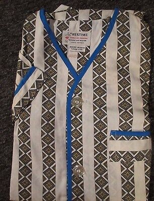 Vintage Retro Mcm Boys' Two Piece Pajamas New Old Stock  Restime Sz 8 Irregular