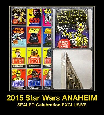 5x7 Star Wars Celebration 7 Topps Jumbo Cards Anaheim VII Pack Art WRAPPERS 2015