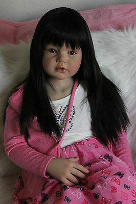 """Reborn Toddler baby Girl Angelica by Reva Schick now Brown Eyes Andie 43"""""""