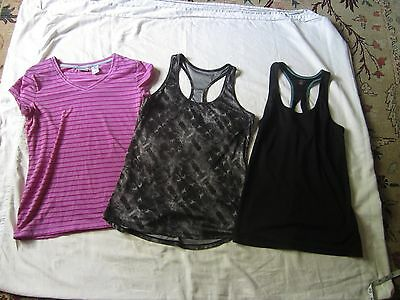 Lot Moret Ultra 3 work-out gym active tops, M (2 tank tops, 1 tee)