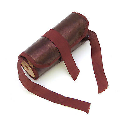 Antique Shaker Leather Sewing Roll Up Case ~ AAFA