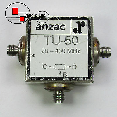 1×USED M/A-COM anzac TU-50 20-400MHz SMA 2-Way Power Divider Splitter