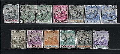 Barbados Scott #70-80 1892-1903 Victoria Complete Set Used (2 Extra Shades)