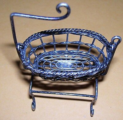 Antique Baby Bassinet/cradle .800 Silver Unknown Makers Mark Rare?
