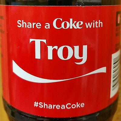 Summer 2015 Share A Coke With Troy Personalized Coca Cola Collectible Bottle