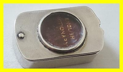 S.mordan & Co Silver Miniature Dictionary And Magnifier,london 1898
