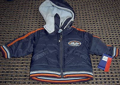 Motionwear Baby Boys Hooded Puffer Jacket Brown Sz 0 - 3 Months New With Tags