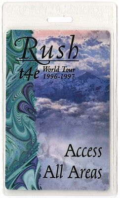 Rush authentic 1996-1997 concert Laminated Backstage Pass Test For Echo Tour AA