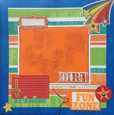 FUN ZONE - Handmade Scrapbooking Page