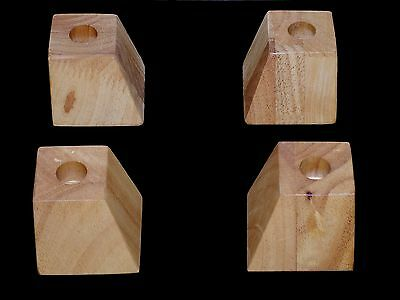 Set of 4 x wooden furniture LEGS hardwood 50mm high - couch / sofa