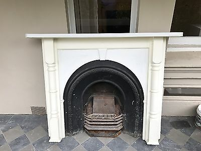 Victorian Fireplace Mantel and Cast Iron insert