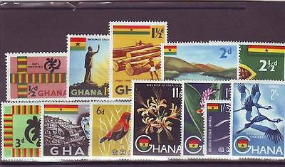 a120 - GHANA - SG213-227 MNH 1958 SHORT DEFINITIVE SET 1/2d - 2/- (12v)