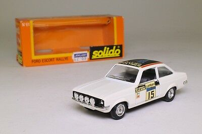 Solido 61; 1975 Ford Escort RS1800; Lombard RAC Rally, RN15; Very Good Boxed