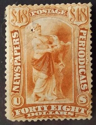United States 1879 $48 Yellow - Brown Newspaper & Periodical Stamp