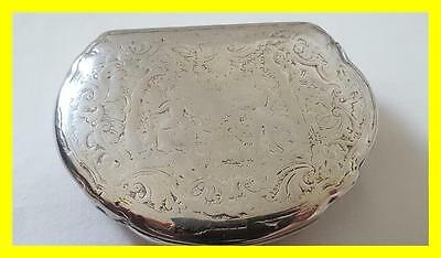 Late 18Th C Large Silver Table Snuff Box, Gilt Interior,crown?? Nobility?