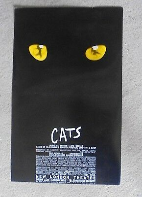 1981 CATS poster at the NEW LONDON THEATRE with PAUL NICHOLAS, ANGELA RICHARDS