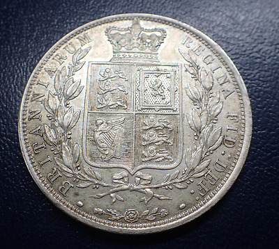 1887 Young Head Victoria Silver Half crown
