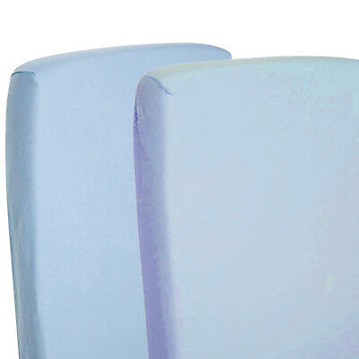 4x Fitted Sheets Compatible With Chicco Lullago Crib 100 % Cotton-Blue