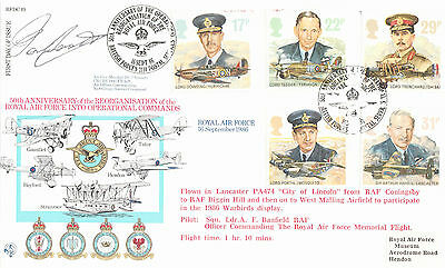 Rfdc 49 Off Cover-Royal Air Force-Signed Air Vice Marshal D.c.t Bennett-1986